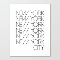 new york city Canvas Prints featuring New York New York City by Stylish in Sequins