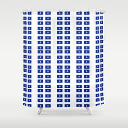 Flag of quebec 3– Canada, montreal,Saint Laurent,Quebecois,belle province, trois rivières. Shower Curtain