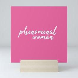Phenomenal woman Mini Art Print