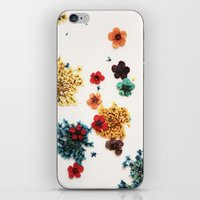 martell iPhone & iPod Skins featuring Little Flowers by G Martell
