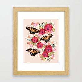 Swallowtail Florals by Andrea Lauren  Framed Art Print