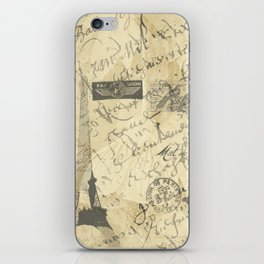 Parisian French Script iPhone Skin