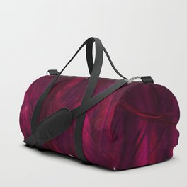 Cranberry Feathers Duffle Bag