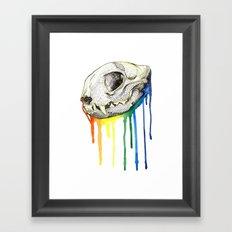 Skull Candy Kitty Framed Art Print