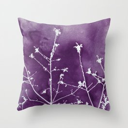 Ultra Violet Botanical Art Throw Pillow