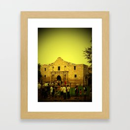 Remember the Alamo Framed Art Print