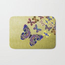 Flight Of The Butterflies Bath Mat