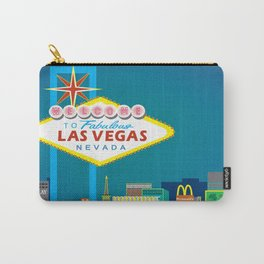 Las Vegas, Nevada - Skyline Illustration by Loose Petals Carry-All Pouch
