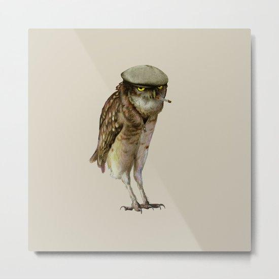 trendy owl Metal Print