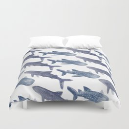 Whale Sharks Duvet Cover