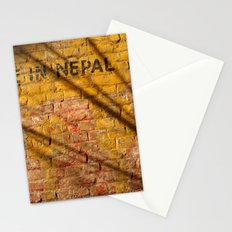 Made in Nepal on Wall Stationery Cards