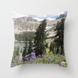 Nevada Summer Wildflowers Throw Pillow