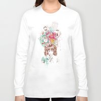ariana grande Long Sleeve T-shirts featuring Thinking by Ariana Perez