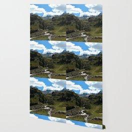 chairlift river kaunertal alps tyrol austria europe Wallpaper