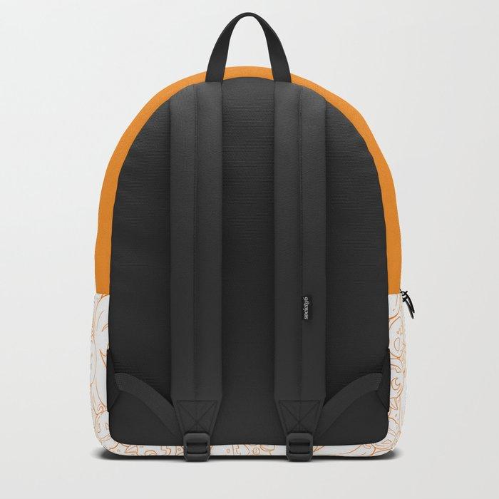 Pumpkin Halloween line pattern Backpack