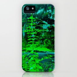 Green Good Morning iPhone Case