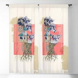 Treehouse colors Blackout Curtain