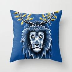 Deer Lion Throw Pillow