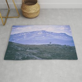 Reindeer in the mountains Rug