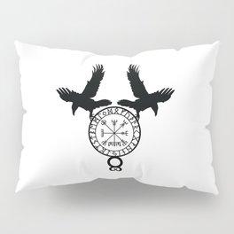 Norse Ravens - Vegvisir Pillow Sham