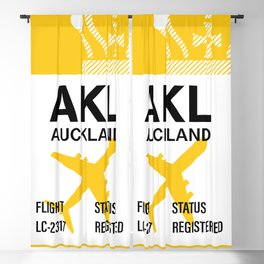 Travel baggage tag to Auckland - New Zeland Blackout Curtain
