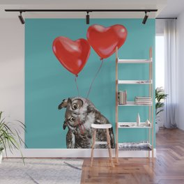 Owl with Love Wall Mural