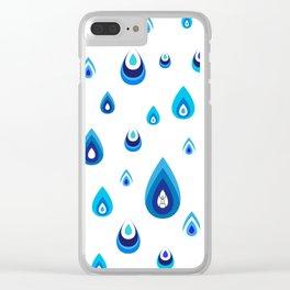 Drip Drop Clear iPhone Case