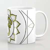 om Mugs featuring Om by Anastasia Fomina