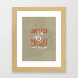 Bread and Milk  Framed Art Print