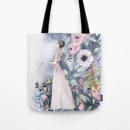 Ballerina and flowers n.3 Tote Bag