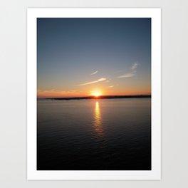 NEWPORT SUNSET Art Print