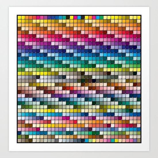 Color Chart Art Print
