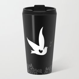 Love and Freedom - Black Travel Mug