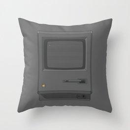 Macintoch Black Throw Pillow