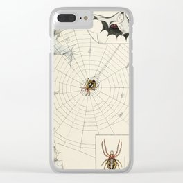 Vintage Garden Spider with Web Illustration (1891) Clear iPhone Case