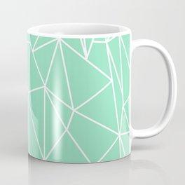 Geometric Cobweb (White & Mint Pattern) Coffee Mug