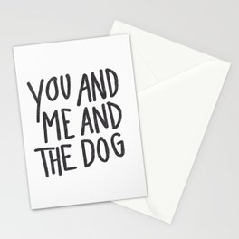You, Me And Dog Stationery Cards