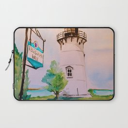 East Chop (Telegraph Hill) Lighthouse Martha's Vineyard Watercolor Laptop Sleeve