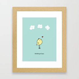 Chirp & Whistle Thinking of You Bird Framed Art Print