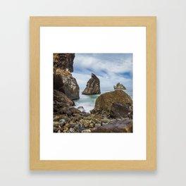 Sliding Away Framed Art Print