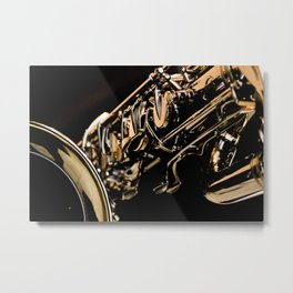 Musical Gold Metal Print