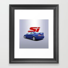 6th Gen Honda Civic Si - Electron Blue Pearl Framed Art Print