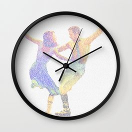 La la Land Typographic Screenplay Print Wall Clock