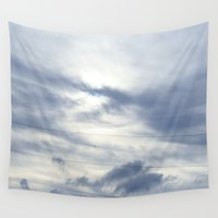 telephone Wall Tapestries featuring telephone lines by EnglishRose23