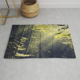 Being There - Morning Light in Forest Rug
