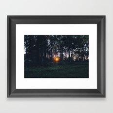 Glimmer of Hope #Sunset Framed Art Print