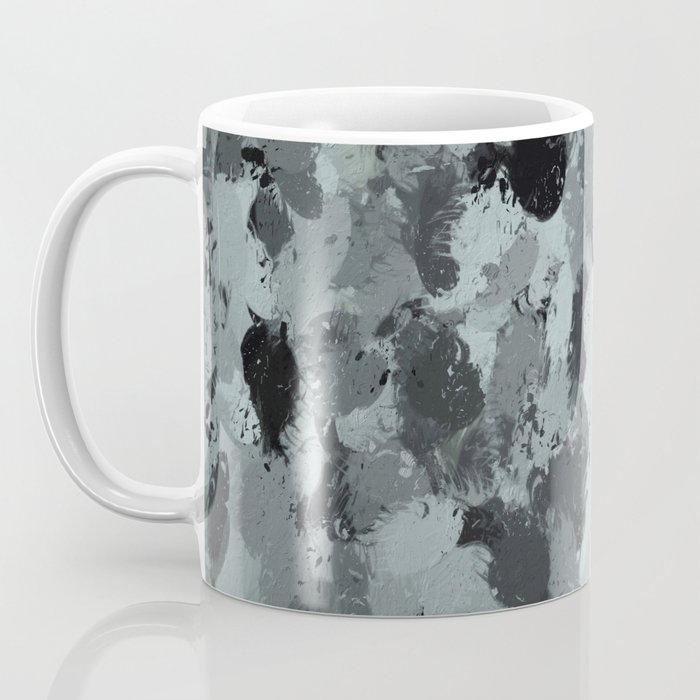 Black and Smokey Blue Pastels 3216 Coffee Mug