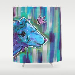 Blue Bear King Shower Curtain