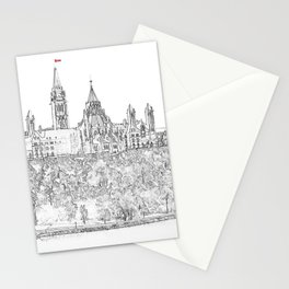 Parliament Hill In Ottawa Stationery Cards