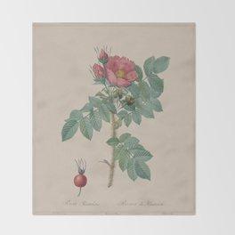 Rosa JP Redoute Throw Blanket